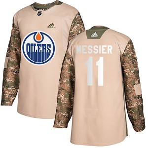 Mark Messier Youth Adidas Edmonton Oilers Authentic Camo Veterans Day Practice Jersey